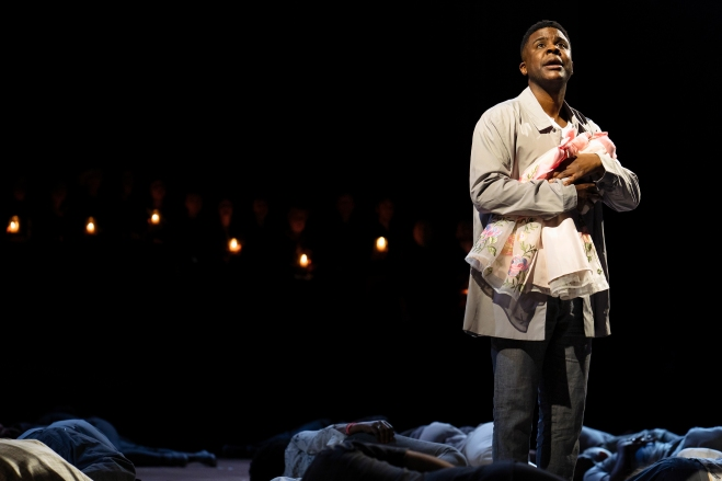 NT PUBLIC ACTS Ashley Zhangazha as Pericles in Pericles at National Theatre (c) James Bellorini 24